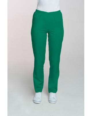 M-086 Spodnie damskie medyczne spodnie do pracy kolor trawa