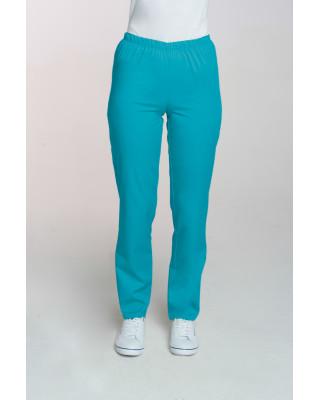 M-086 Spodnie damskie medyczne spodnie do pracy kolor turkus