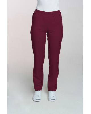 M-086 Spodnie damskie medyczne spodnie do pracy kolor wiśnia