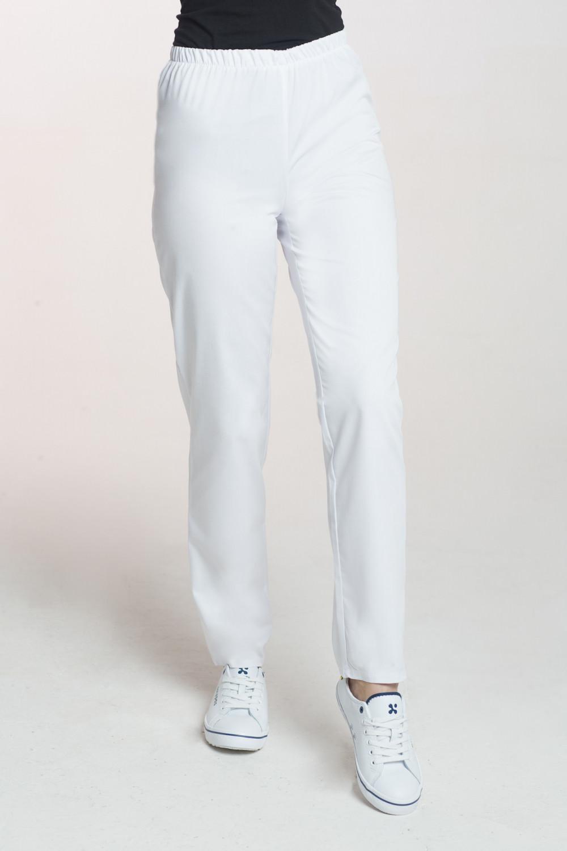 M-086 Spodnie damskie medyczne spodnie do pracy kolor biały