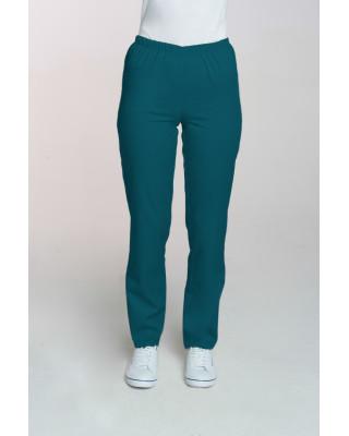 M-086 Spodnie damskie medyczne spodnie do pracy kolor ciemny zielony