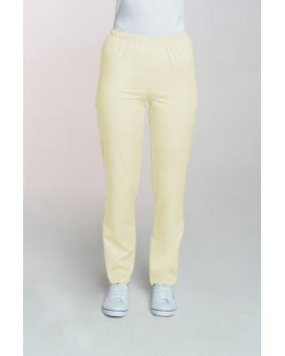 M-086 Spodnie damskie medyczne spodnie do pracy kolor banan