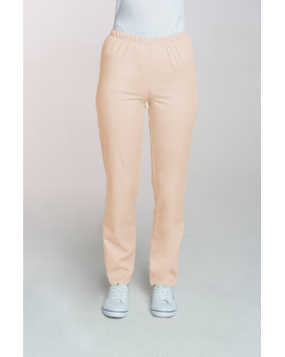 M-086 Spodnie damskie medyczne spodnie do pracy kolor beż