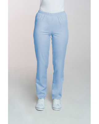 M-086 Spodnie damskie medyczne spodnie do pracy kolor błękit