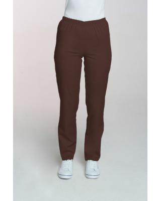 M-086 Spodnie damskie medyczne spodnie do pracy kolor czekolada