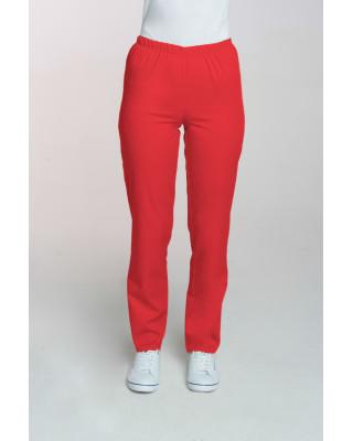 M-086 Spodnie damskie medyczne spodnie do pracy kolor czerwone