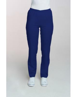 M-086 Spodnie damskie medyczne spodnie do pracy kolor szafir