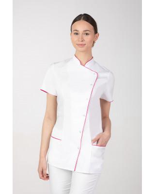 M-354X Żakiet damski elastyczny kosmetyczny ze stójką SPA uniform kolor biały