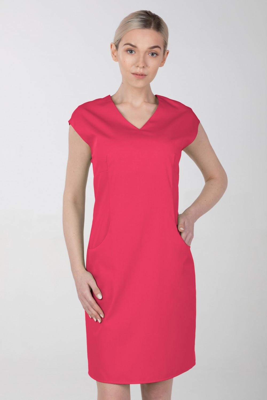 Sukienka medyczna elastyczna M-373 amarant