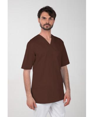 M-074Z Komplet medyczny lekarski chirurgiczny męski kolor czekolada