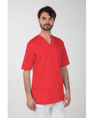 M-074Z Komplet medyczny lekarski chirurgiczny męski kolor czerwony