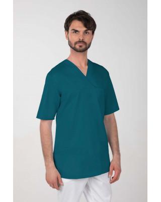 M-074Z Komplet medyczny lekarski chirurgiczny męski kolor ciemny zielony