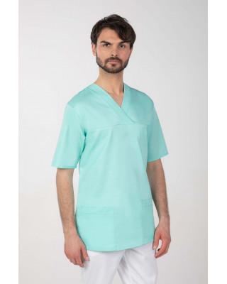 M-074Z Komplet medyczny lekarski chirurgiczny męski kolor mięta