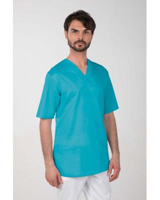 M-074Z Komplet medyczny lekarski chirurgiczny męski kolor turkus