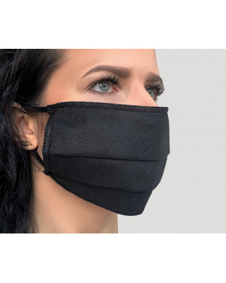 Maska przeciwpyłowa maseczka ochronna na gumce czarna