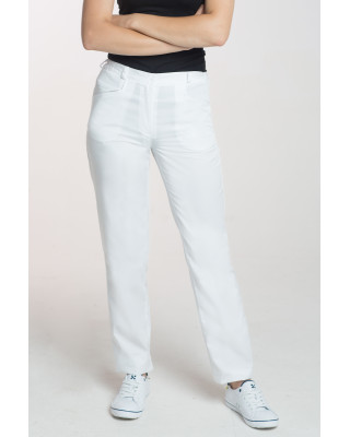 M-348 Spodnie damskie medyczne do fartucha kolor biały