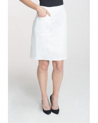Spódnica medyczna z kieszeniami biała M-059