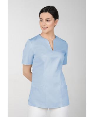 M-323X Bluza damska medyczna elastyczna kosmetyczna kolor błękit
