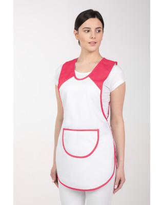 M-023Ai fartuch kasak kuchenny odzież gastronomiczna wiązany po bokach amarant