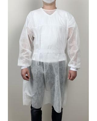 Fartuch ochronny jednorazowy flizelinowy biały - odzież ochronna