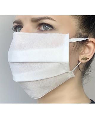 Maska przeciwpyłowa maseczka ochronna na gumce biała