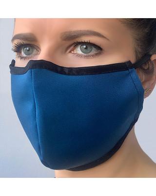 Maska przeciwpyłowa bawełniana maseczka ochronna bawełniana na ulicę ciemna zieleń + czarny