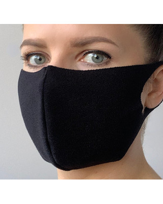 Maska elastyczna wielorazowa maseczka ochronna elastyczna czarna cieńsza gramatura