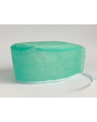 Czepek ochronny jednorazowy antybakteryjny hydrofobowy oddychający flizelinowy zielony M-321AN