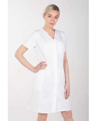Żakiet medyczny damski M-377 kryte napy, kolor biały