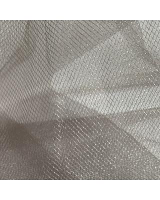 Tiul srebrny na dekoracje spódnice suknie. Tiul dekoracyjny