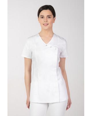 ŻAKIET MEDYCZNY ANTYBAKTERYJNY M-363V biały Odzież medyczna antybakteryjna