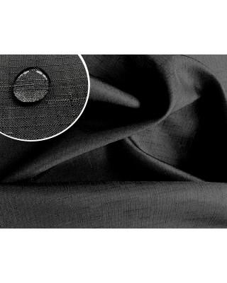 Tkanina ogrodowa poliestrowa wodoodporna imitacja lnu czarna