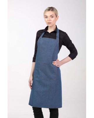Fartuch przedni kelnerski gastronomiczny jeansowy M-357M. Model stylizowany na odzież denim jeans.
