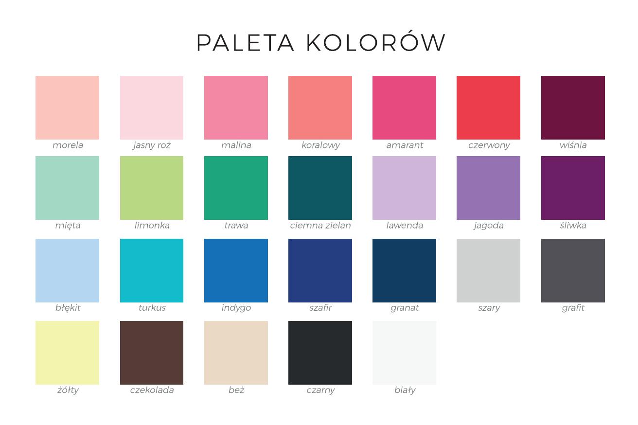 Paleta kolorów tkanin - elanobawełna MARTEX