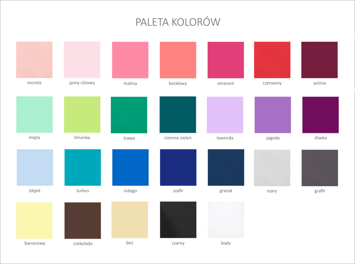Paleta kolorów MARTEX