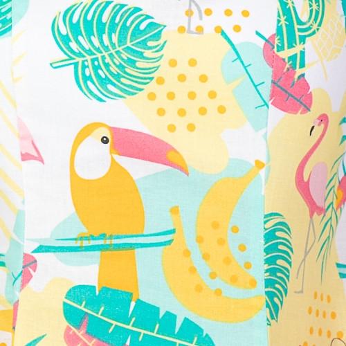 tukany i flamingi